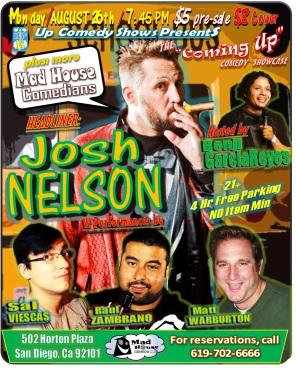 CUCS MadHouse Monday 8.26.13 Josh Nelson 2.0
