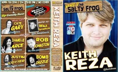 TSF MNF 04.07.14 Keith Reza DVD COVER POSTER 1.0