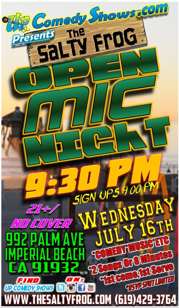 TSF Open Mic Poster July 16th