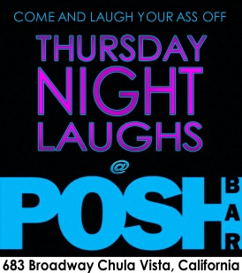 Thursday Night Laughs at POSH Bar Badge