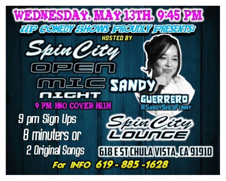 SCL Open Mic May 13th