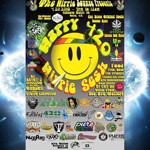 04.20.16 Hippie Lounge Original Poster