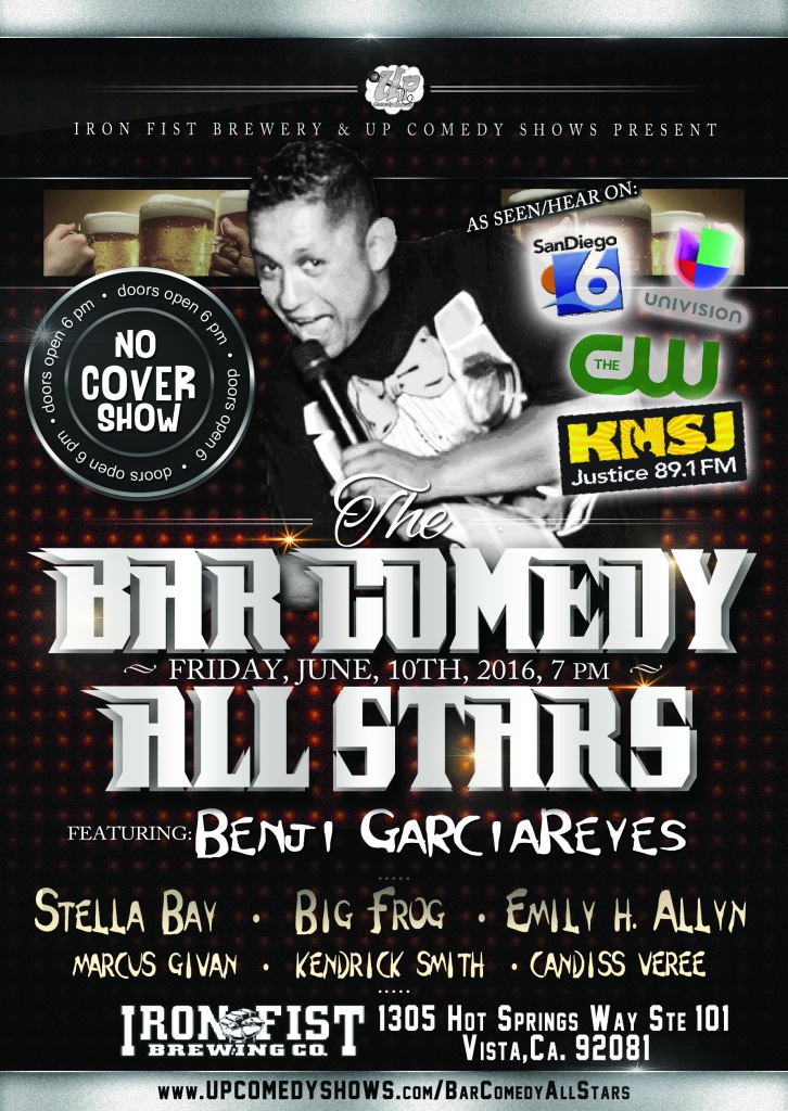 06.10.16 Bar Comedy All Stars - Iron Fist June
