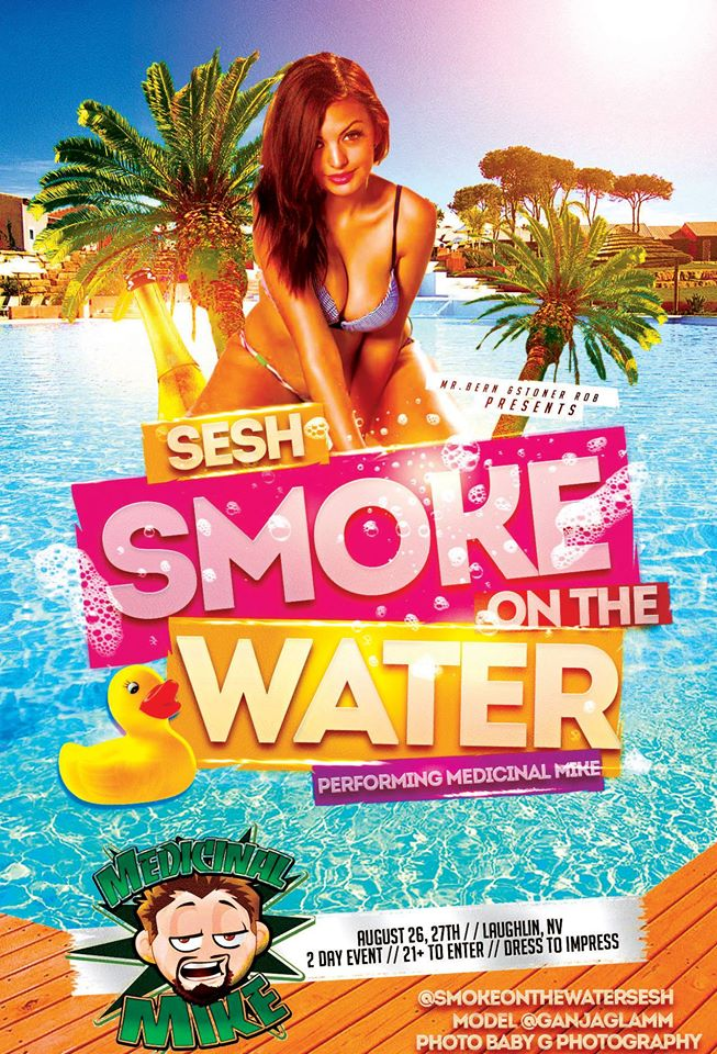 Smoke on Water Medi MIke poster