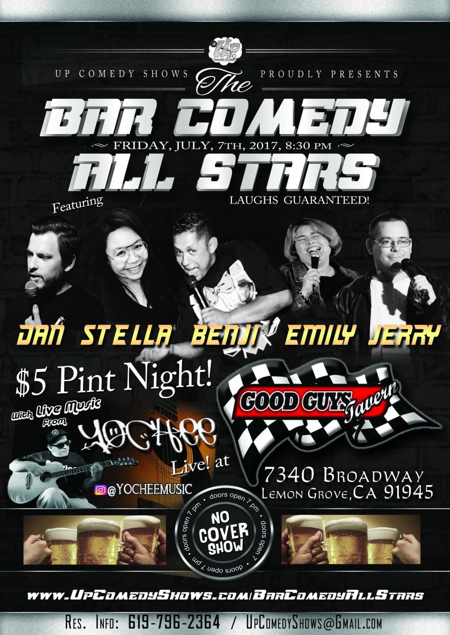 Bar Comedy All Stars Fri Jul 7th 830 Pm No Cover 21 5 Pints