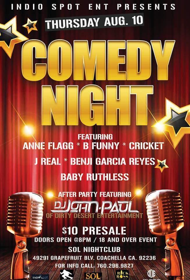 Comedy Night at Sol 08.10.17