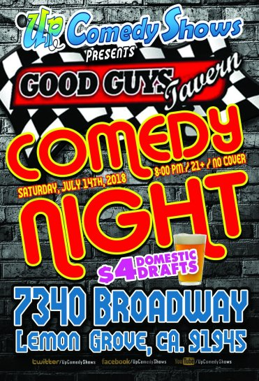 Good Guys Comedy Night - 07.18.18 - 01