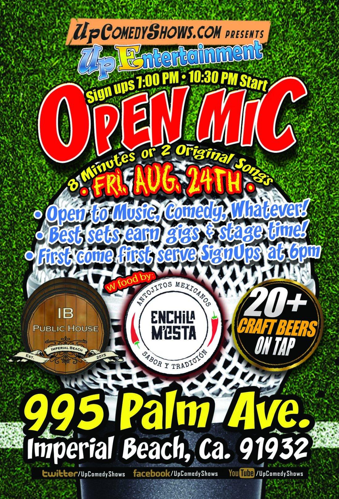 IBCC Open Mic - Aug. 24