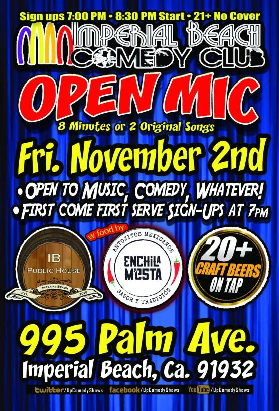 IBCC Open Mic - Nov 2nd - Open Mic Night - Gen