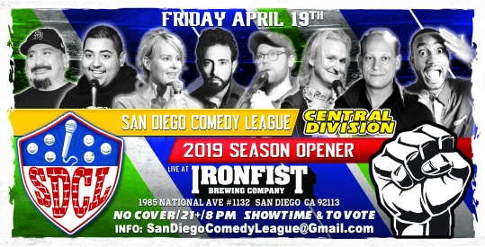 SDCL Gameday Poster - CD - Iron Fist SD - Full Line Up