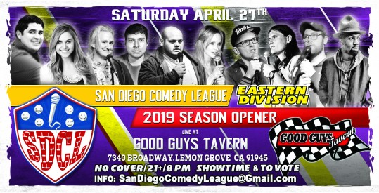 SDCL Gameday Poster - ED - Good Guys -Full Line up Horizontal
