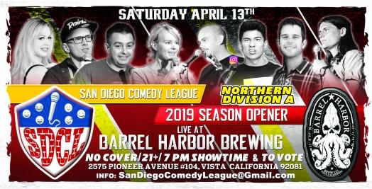 SDCL Gameday Poster - ND - Barrel Harbor 01 - Full Line Up