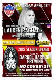 SDCL Gameday Poster - ND - Barrel Harbor 01 - Lauren Rachaelb