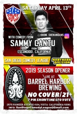 SDCL Gameday Poster - ND - Barrel Harbor 01 - Sammy Cantu