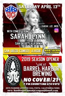 SDCL Gameday Poster - ND - Barrel Harbor 01 - Sarah Lynn