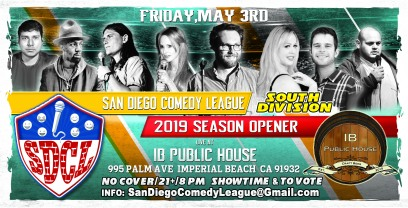 SDCL Gameday Poster - SD - IB Public House - Full Line up Horizontal