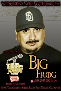 Thorne Of Jokes 2019 Event Poster - BigFrog - 04.17.19