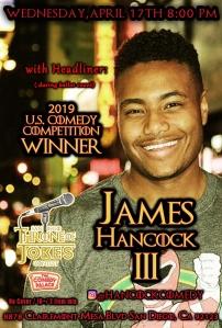 Thorne Of Jokes 2019 Event Poster - James Hancock III - 04.17.19