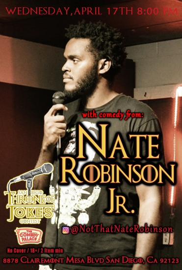 Thorne Of Jokes 2019 Event Poster - Nate Robinson Jr - 04.17.19
