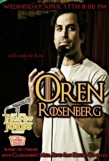 Thorne Of Jokes 2019 Event Poster - Oren Rosenberg - 04.17.19