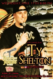 Thorne Of Jokes 2019 Event Poster - Ty Shelton