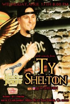 Thorne Of Jokes 2019 Event Poster - Ty Shelton
