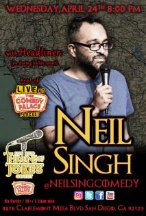 Thorne Of Jokes 2019 Event Poster - w02 - HL -Neil Singh