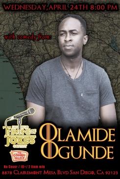 Thorne Of Jokes 2019 Event Poster - w02 - Olamide Ogunde