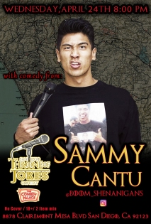 Thorne Of Jokes 2019 Event Poster - w02 - Sammy Cantu