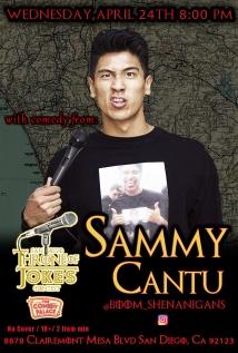 Thorne Of Jokes 2019 Event Poster - w02 - Sammy Cantu