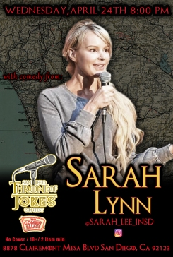 Thorne Of Jokes 2019 Event Poster - w02 - Sarah Lynn