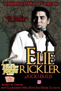 Thorne Of Jokes 2019 Event Poster - w03 - HL Elie Rickler