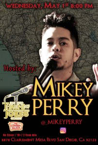 Thorne Of Jokes 2019 Event Poster - w03 - HOST Mikey Perry