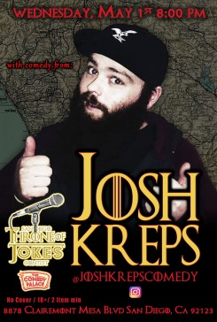 Thorne Of Jokes 2019 Event Poster - w03 - Josh Kreps