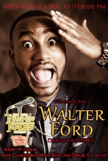 Thorne Of Jokes 2019 Event Poster - Walter Ford - 04.17.19