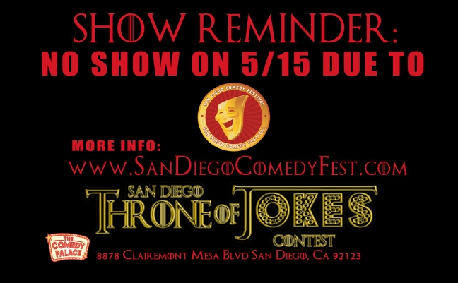 Thorne Of Jokes 2019 Event Poster - 5.15.19 - NO SH OW