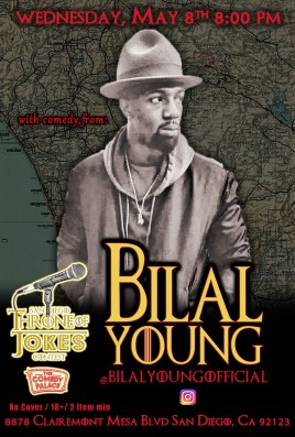 Thorne Of Jokes 2019 Event Poster - w04 - Bilal Young