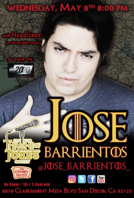 Thorne Of Jokes 2019 Event Poster - w04 - HL - Jose Barrientos
