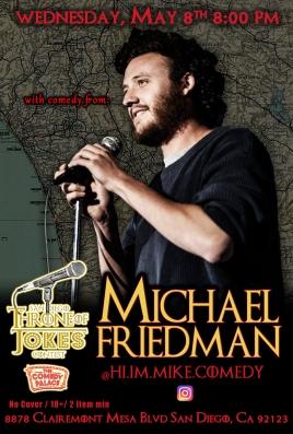 Thorne Of Jokes 2019 Event Poster - w04 - Michael Friedman